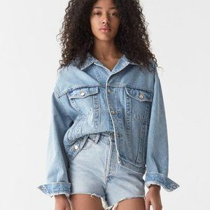 AGOLDE Dee Ultra High Rise Close Fit Denim Shorts